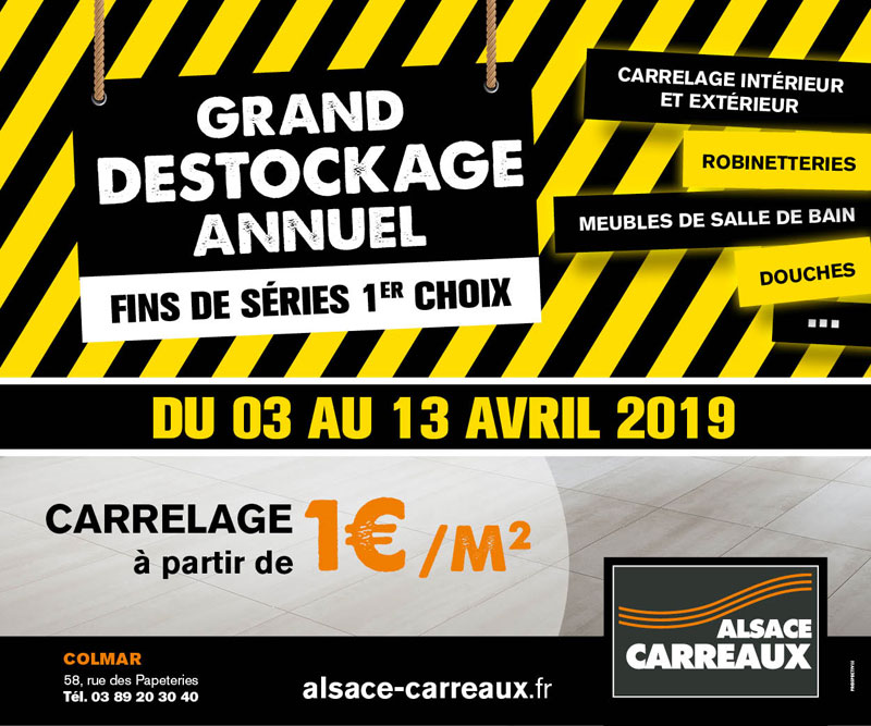 Grand destockage annuel du 03 au 31 avril 2019